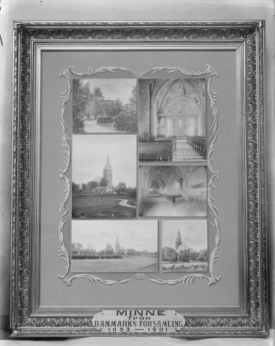 """Mosaiktavla - """"Minne från Danmarks församling 1893-1901"""", Danmarks socken, Uppland"""
