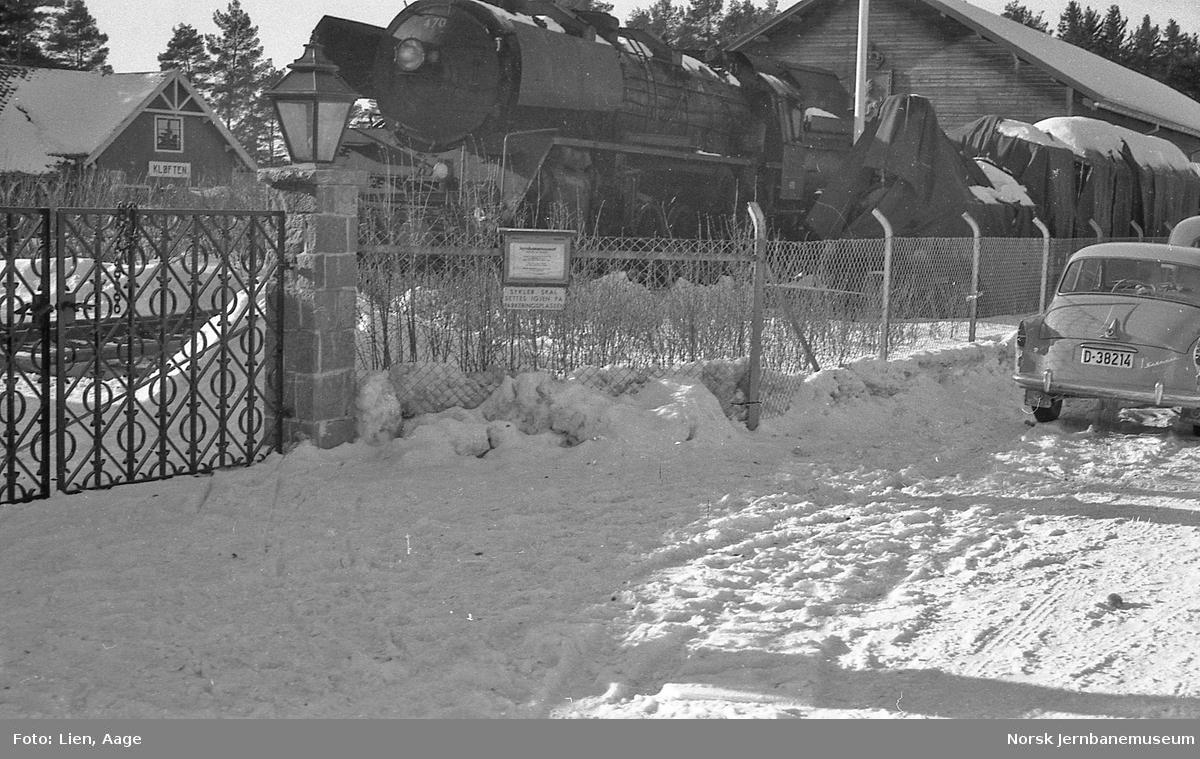 Damplokomotiv type 49c nr. 470 flyttet til Norsk Jernbanemuseum