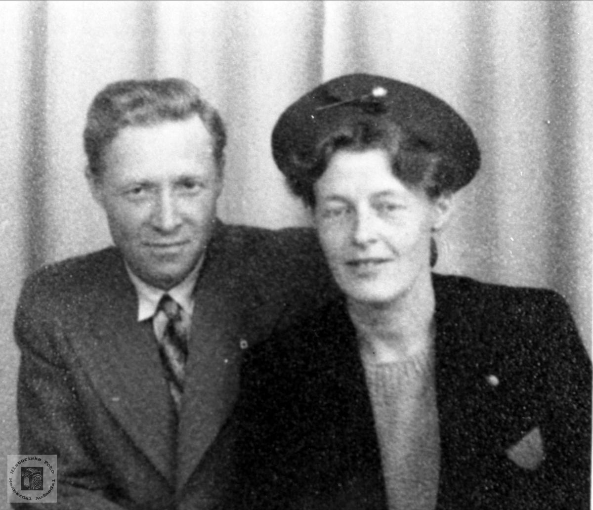 Portrett av Konrad Koland og Randi Haugland gift Koland, Bjelland.