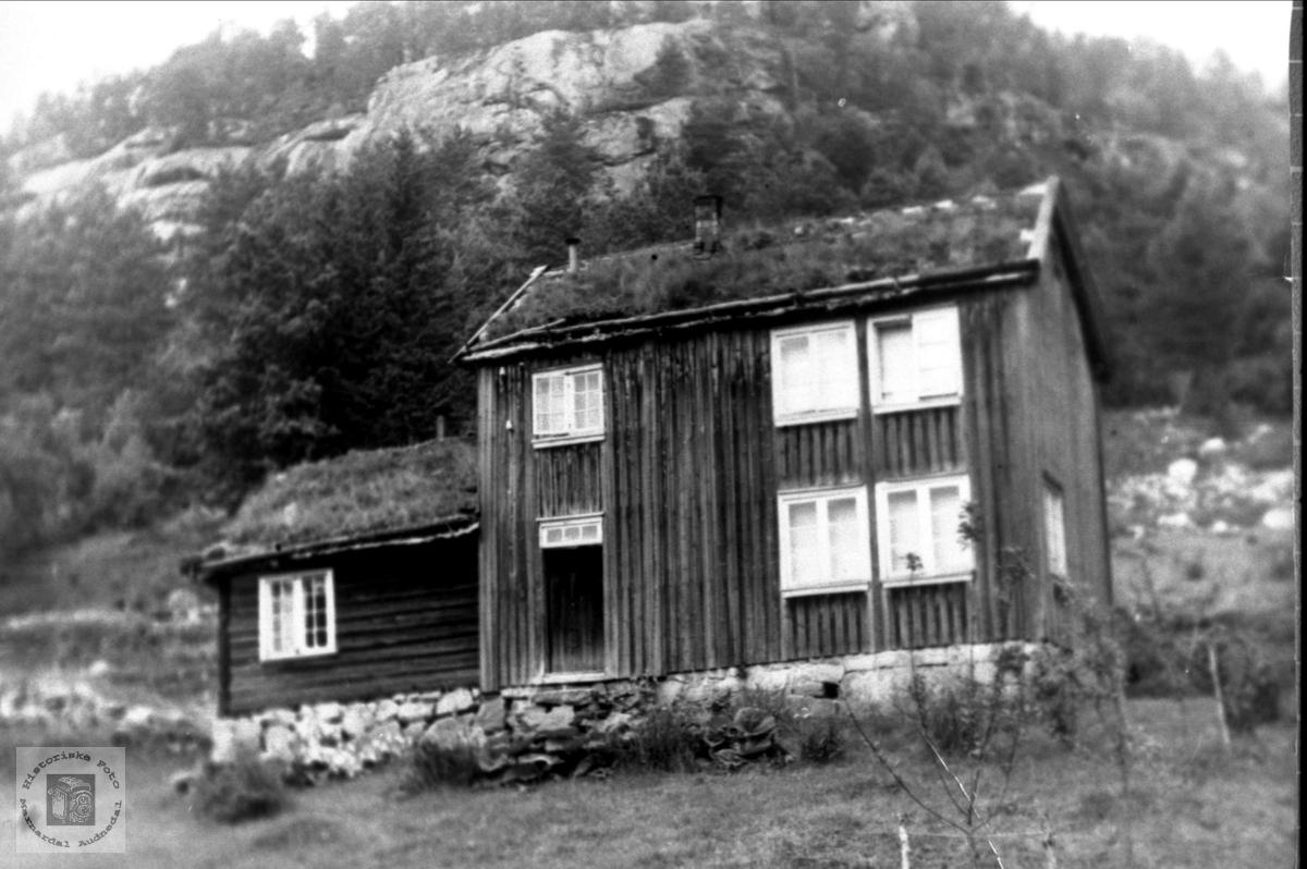"Gamlehusa ""Der vest"" Øvre Homme, Bjelland."