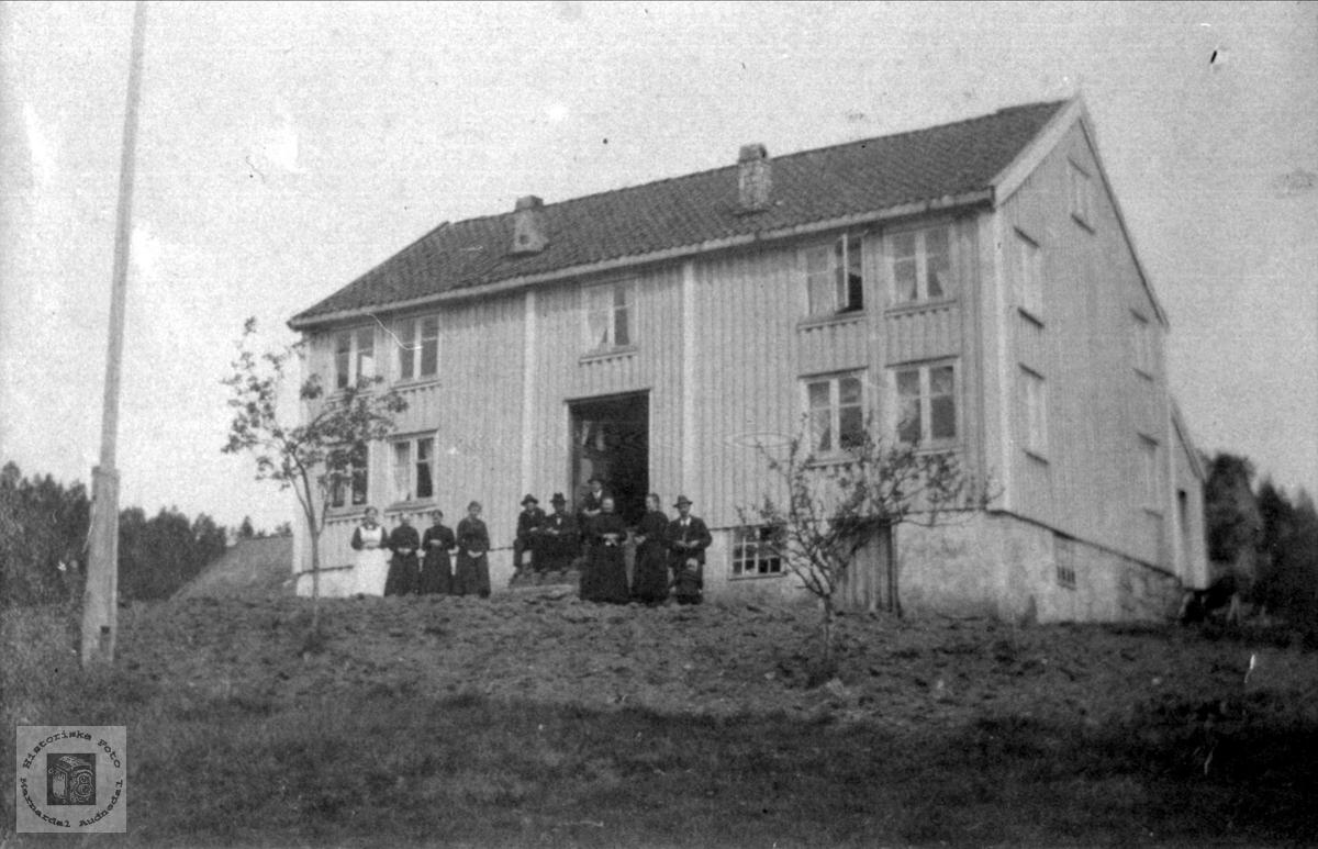 """""""På Vollen"""", Foss i Bjelland."""