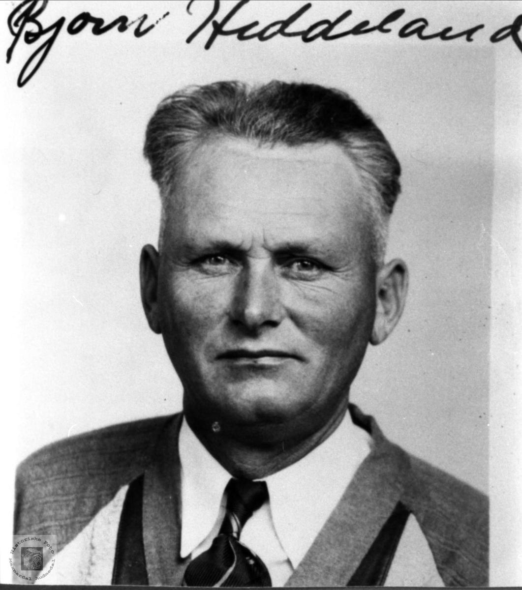Portrett av Bjørn Heddeland, Øyslebø.