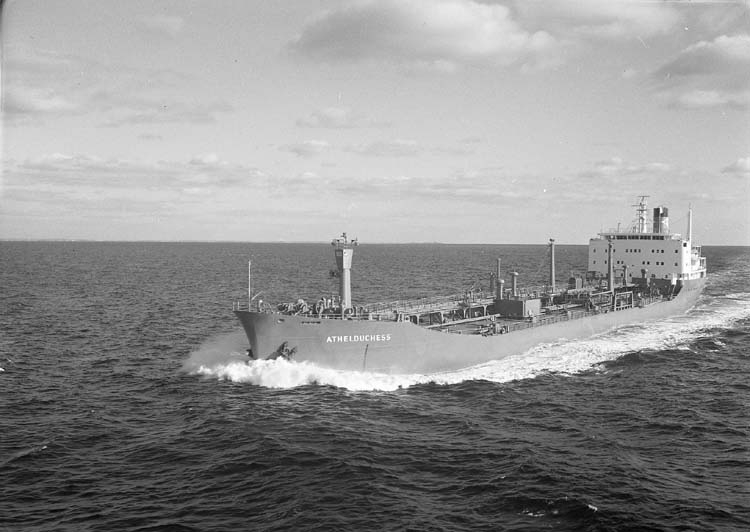 M/T Athelduchess DWT. 17.610 Rederi Athel Line Ltd., London England Kölsträckning 68-03-06 Nr. 222 Leverans 68-09-26 Tankfartyg