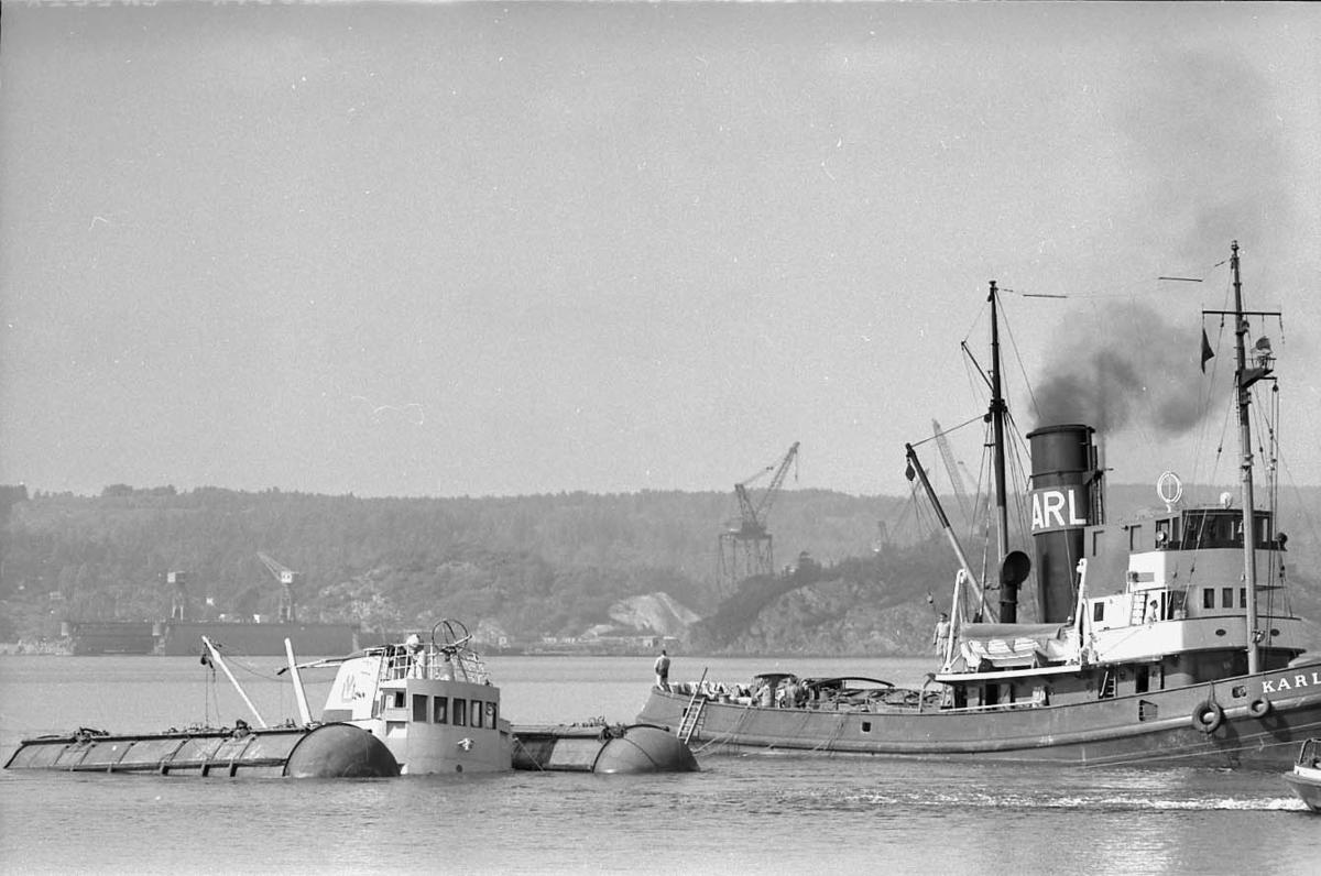 Bärgning av bogserbåten Tor.