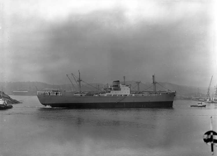 Fartyg 251 M/S Anjan  D.W.T. 12.420  Rederi AB Atos, Helsingborg Kölsträckning 1960-01-23 Leverans 1960-12-30