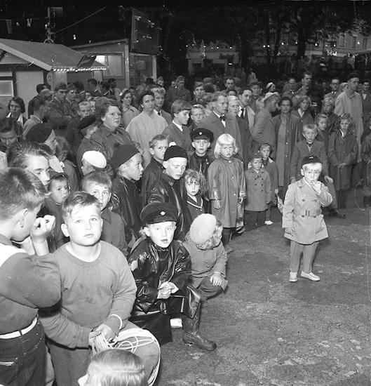 Barnensdags-festligheter i Uddevalla i augusti 1956