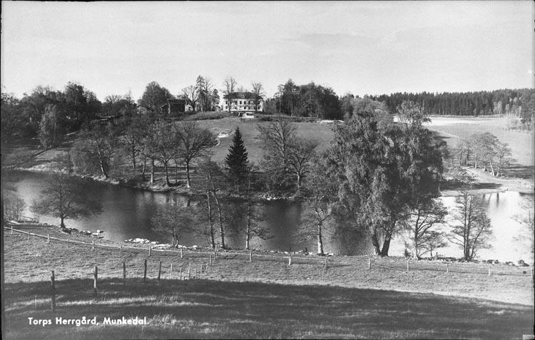 """Enligt fotografens anteckningar: """"1951,15. Torps gård från Ekenäs, nytaget."""""""