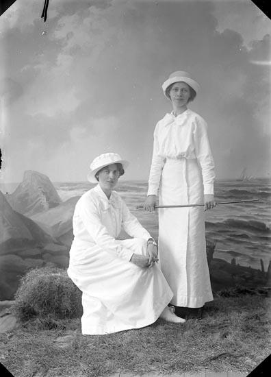 """Enligt fotografens journal nr 2 1909-1915: """"Ekerot, Fr. Disponent Månsson Ön""""."""