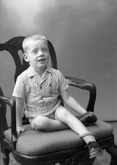 """Enligt fotografens journal nr 7 1944-1950: """"Mårtensson, Herr Gustaf, Mårten Krakowsg. 14 Gbg""""."""