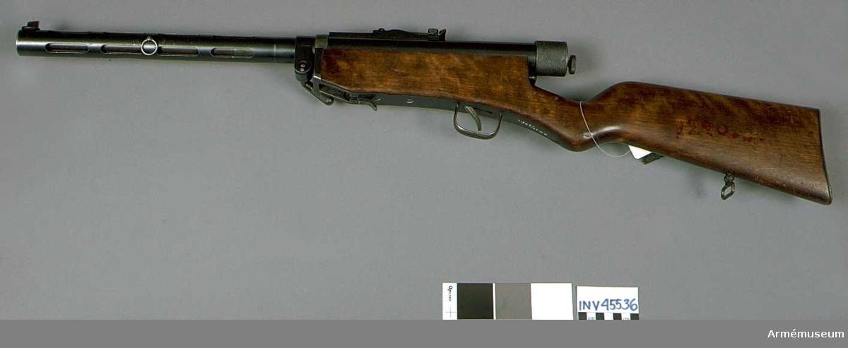 Grupp E IV. Kulsprutepistol m/1926, Finland. (Konepistooli Oy) Kal 7,65 mm.