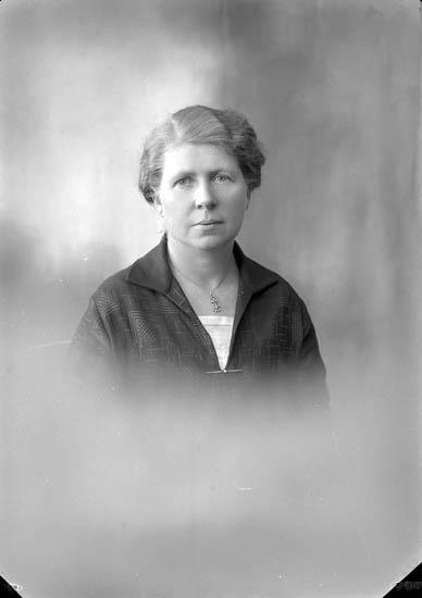 """Enligt fotografens journal nr 5 1923-1929: """"Josefsson, Fru Alice Stenungsund""""."""