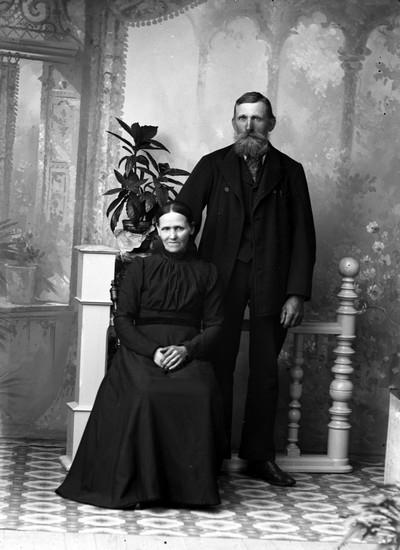 Ateljefoto, man och kvinna::