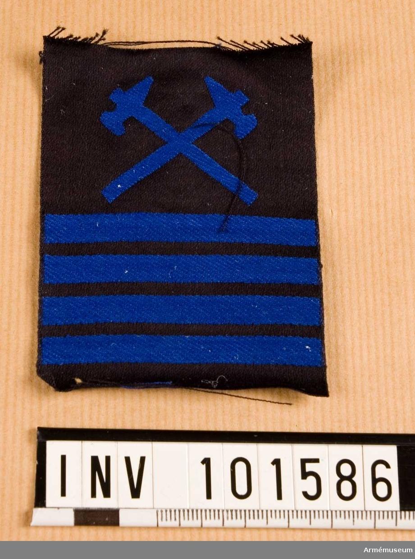 Gradbeteckning: vapensmed, värnpliktig, högbåtsman, marinen.