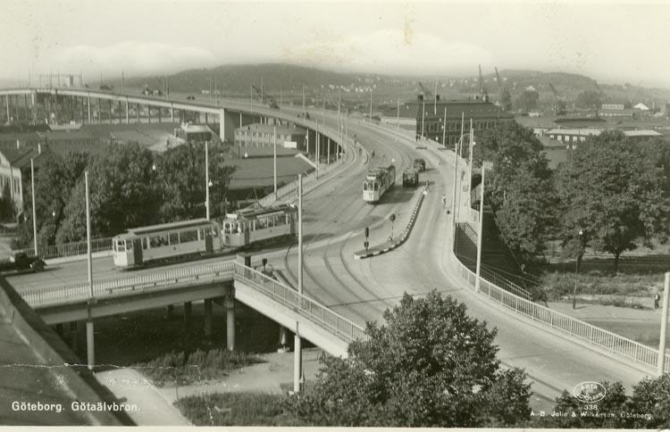 Notering på kortet: Göteborg. Götaälvbron.
