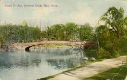 Notering på kortet: Swan Bridge, Central Park, New York.