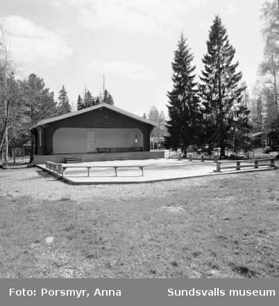 Dokumentation av byggnader på Norra berget, Konstruktioner på toppen av Nolbykullens slalombacke och utsikt från Nolbykullen.