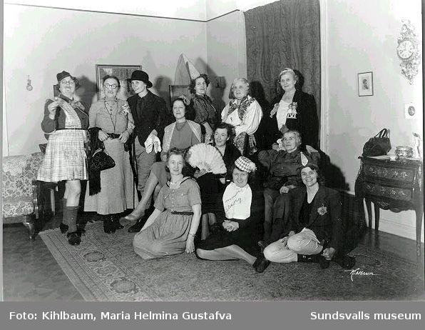 Grupporträtt, teatergrupp.