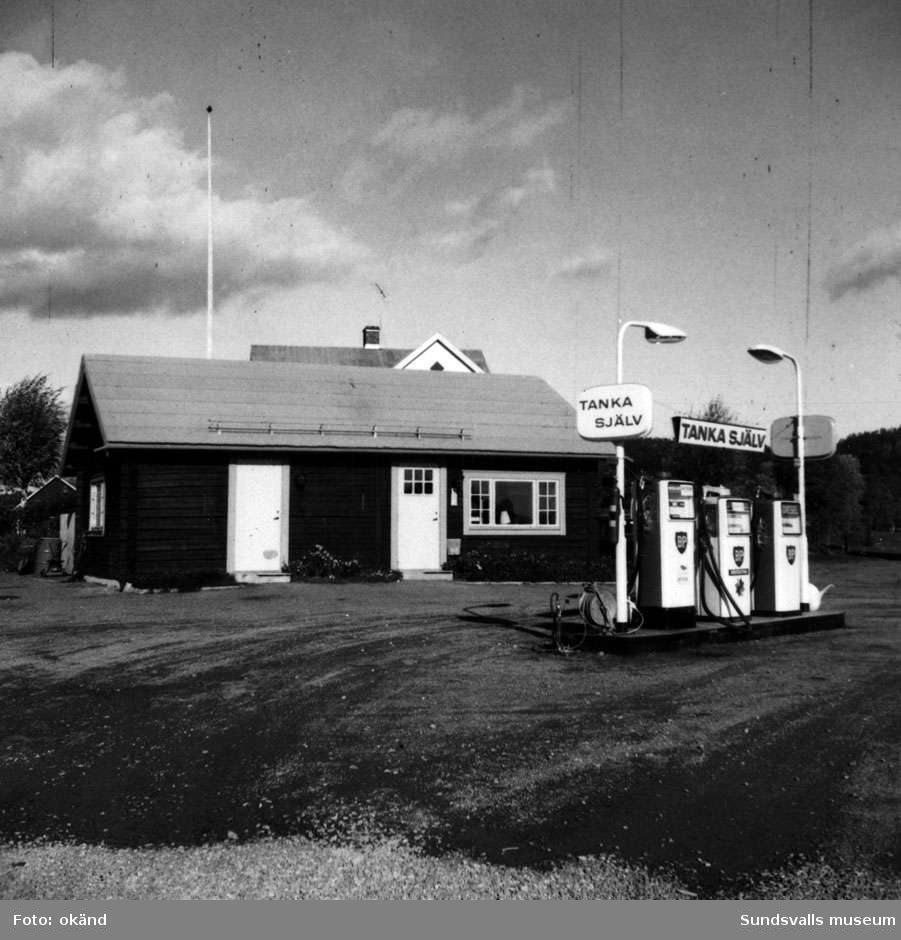 BP-stationen Gallsäter. Köpman: Rune Åhlström.