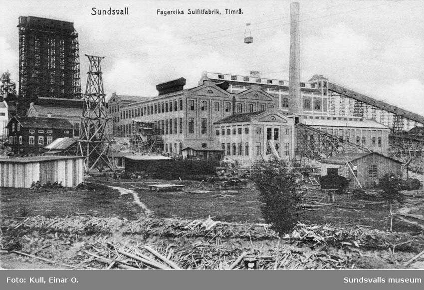Fagerviks sulfitfabrik, Timrå.