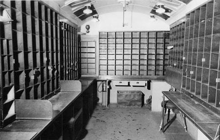 Interiör av Kontorrummet, 6,2 m långt, DB-vagn levererad 1936.