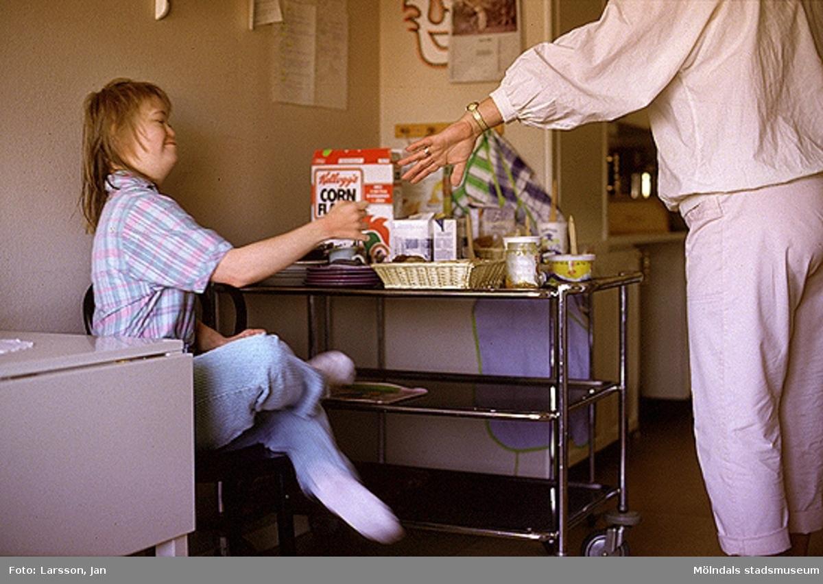 Stretereds vårdhem för handikappade, 1980-talet.
