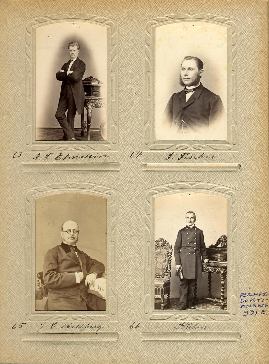 Porträtt av brevbäraren vid det svenska postkontoret i Hamburg Fr. Fischer.