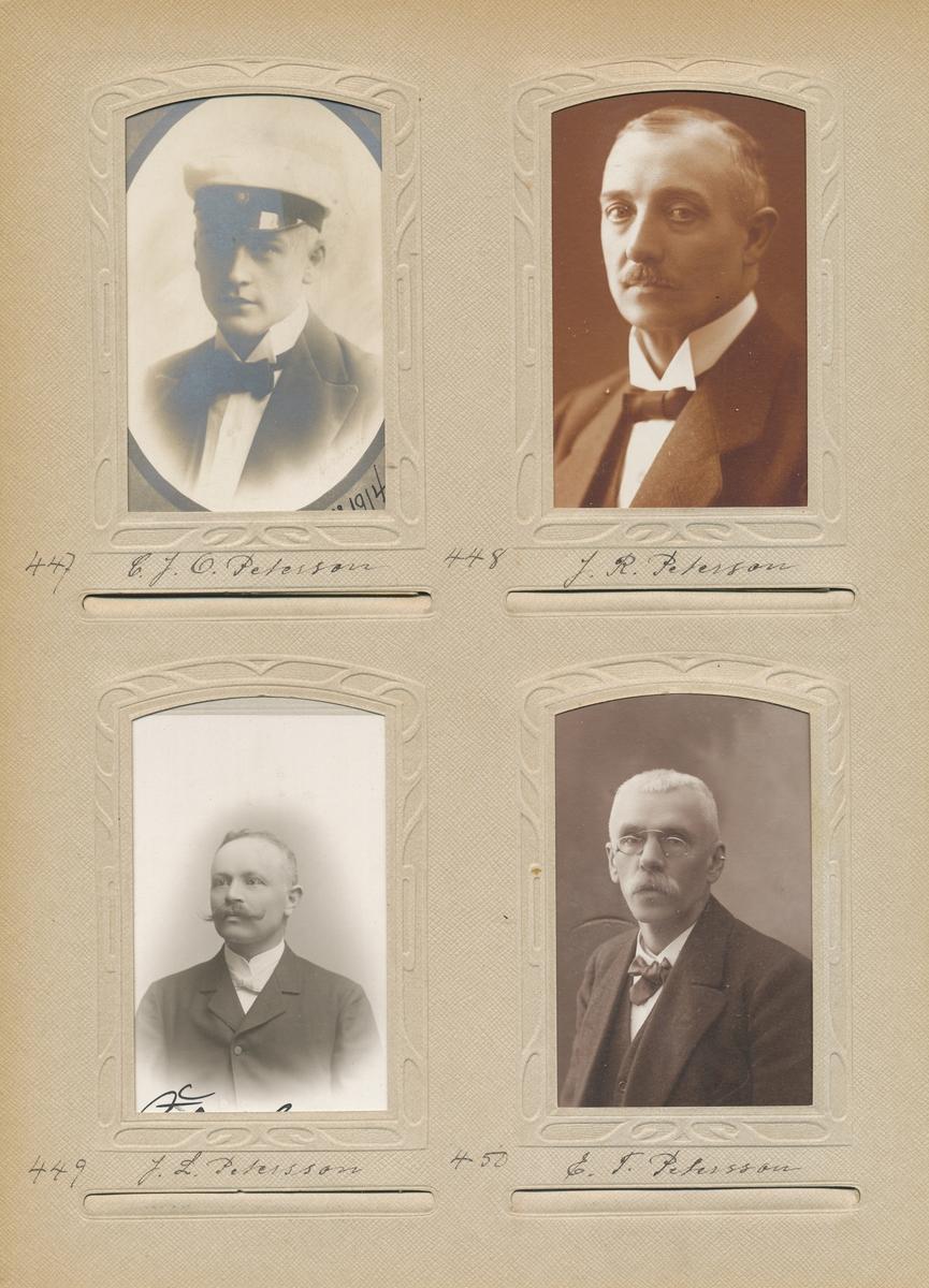 Porträtt av Edvard Theodor Petersson, postmästare i Krokom 1905- 1911 och i Söderhamn 1912-1929.