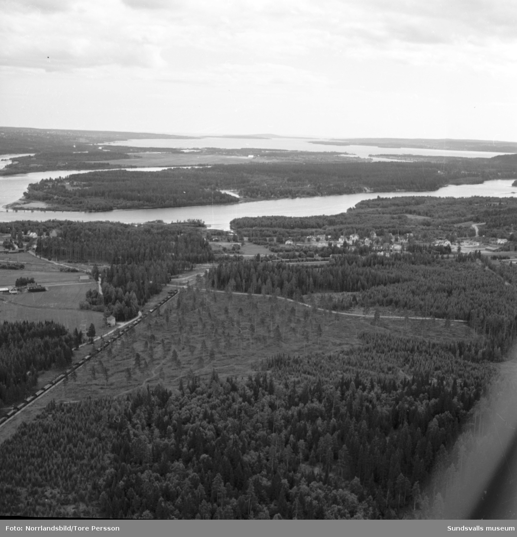 Flygfoton över Söråker.