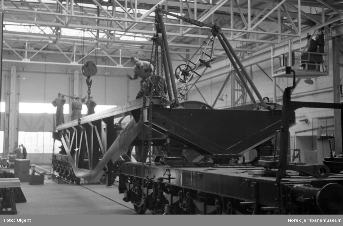 Bygging av transformatorvogn for NSB, litra Trqo nr. 16000