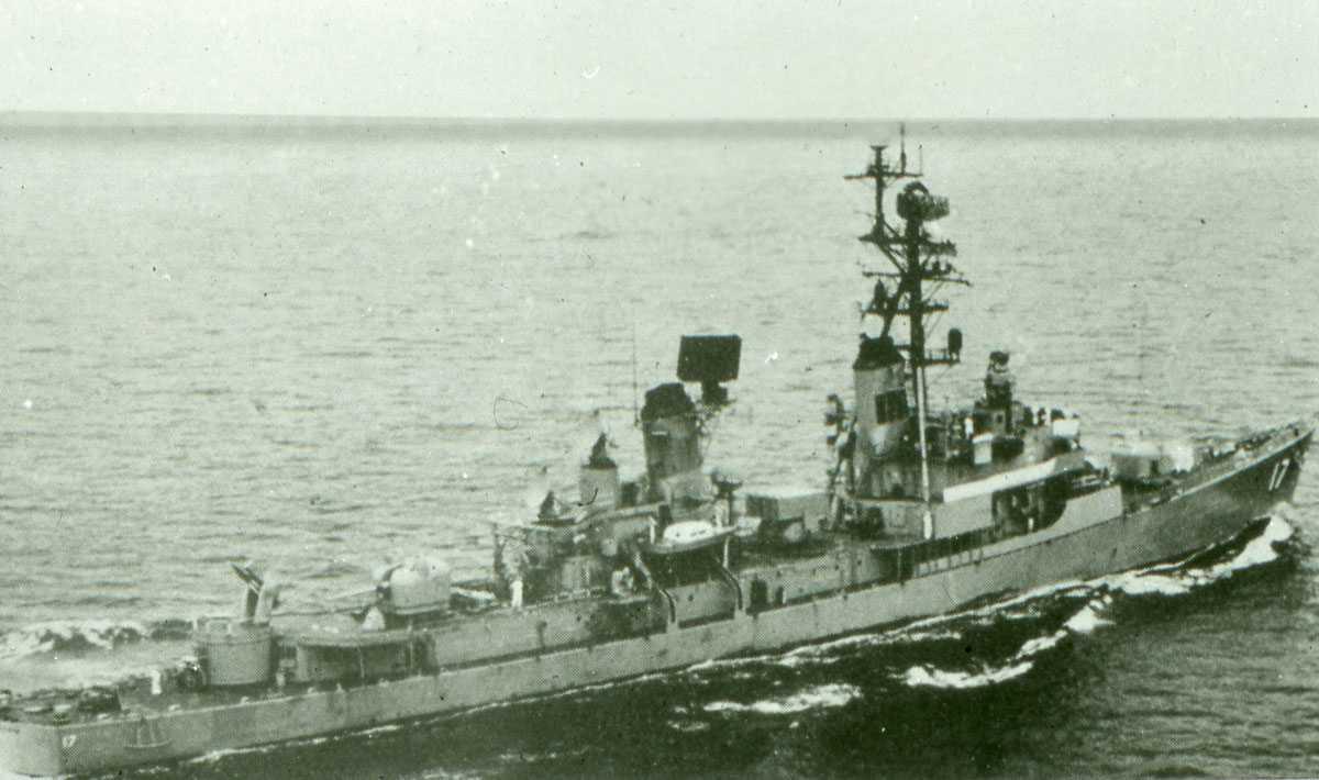 Amerikansk fartøy av Charles F. Adams - klassen og heter Conyngham.