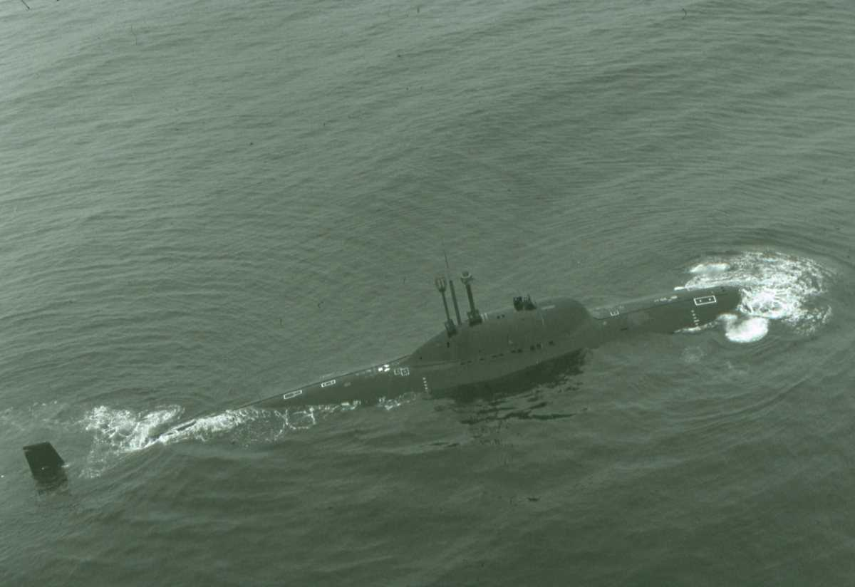 Russisk ubåt av Alfa - klassen.