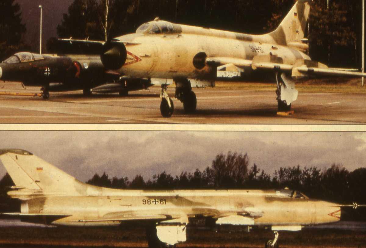 Russisk fly av typen Sukhoi Su-20 Fitter C.
