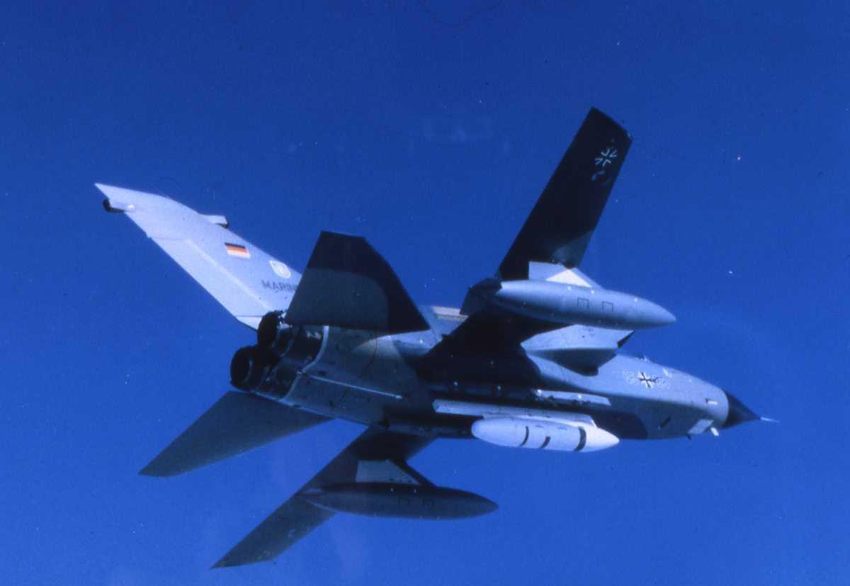 Tysk fly av typen Tornado IDS, tilhørende Marinen.
