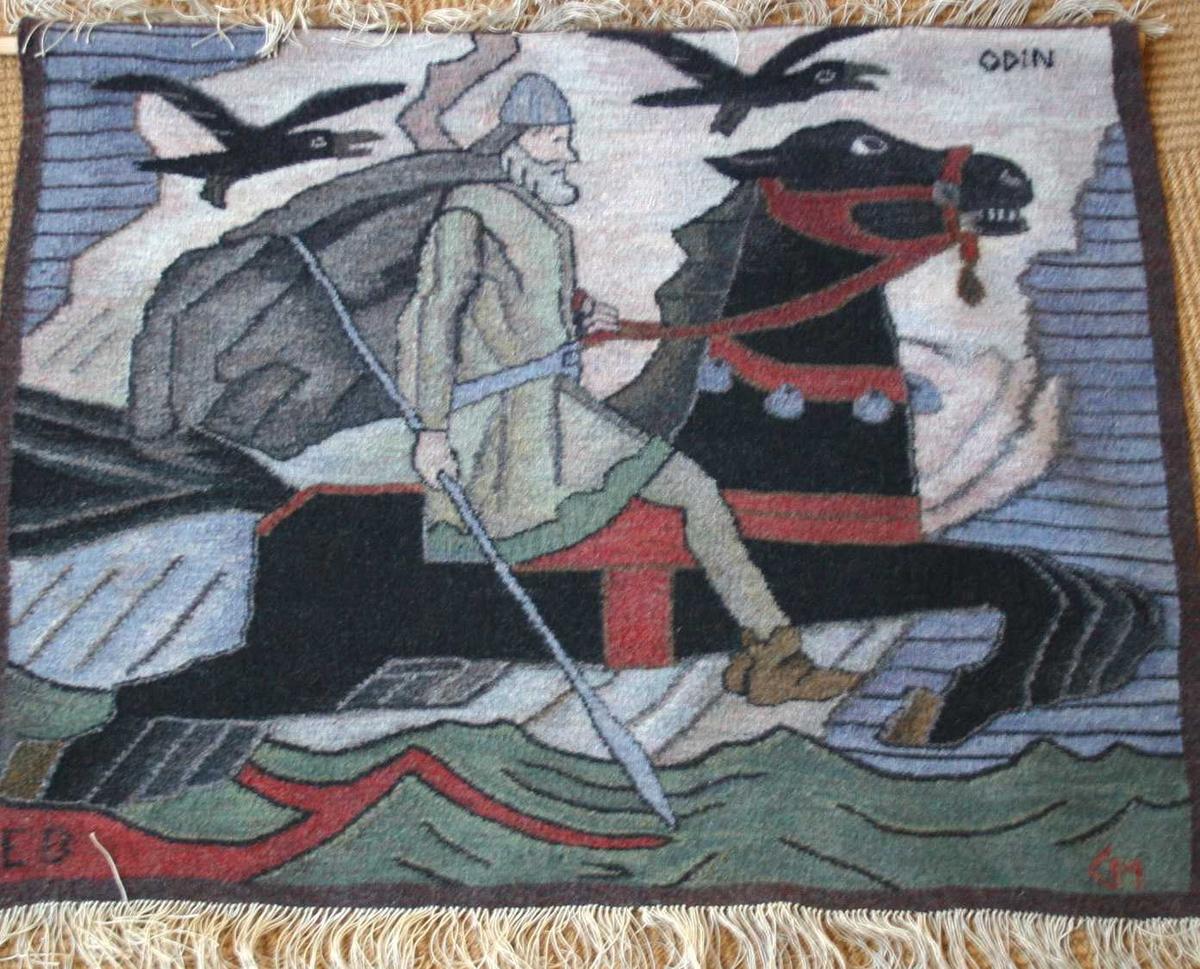 Ridande mannsperson på hest med 4 (23)