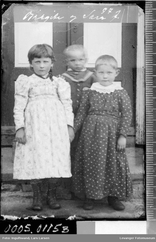 Portrett av tre barn.