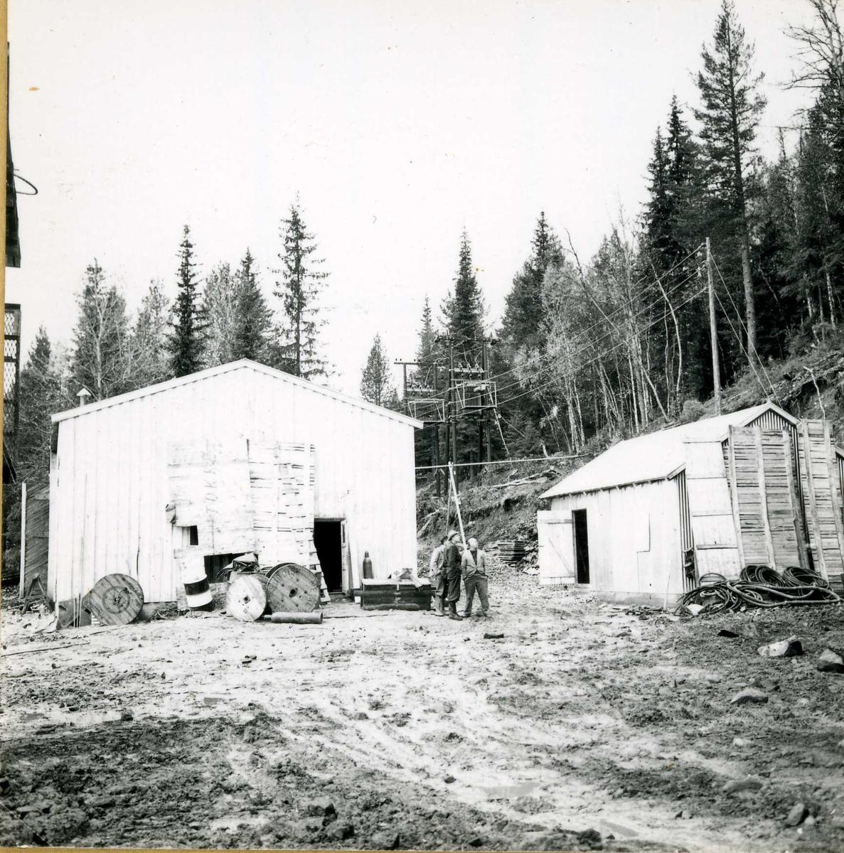 Tilløpstunnel frå Vesås. Anleggsbygningar.