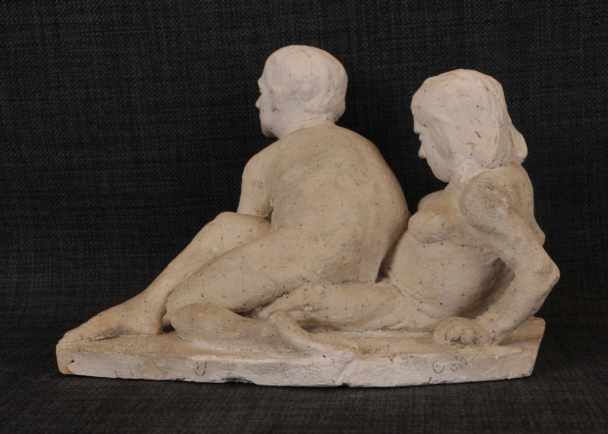 Liknar på skulpturen Drøm (1933), dette er truleg eit utkast.