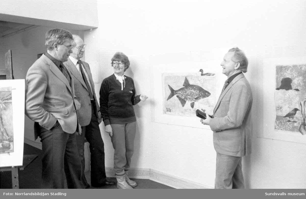 Vernissage med Sundsvallskonstnären Solveig Hammarstedt på Galleri Talgoxen.