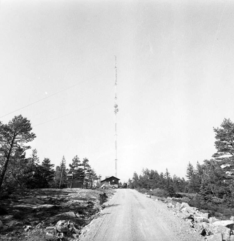 TV-masten på Herrestadsfjället utanför Uddevalla i juni 1960