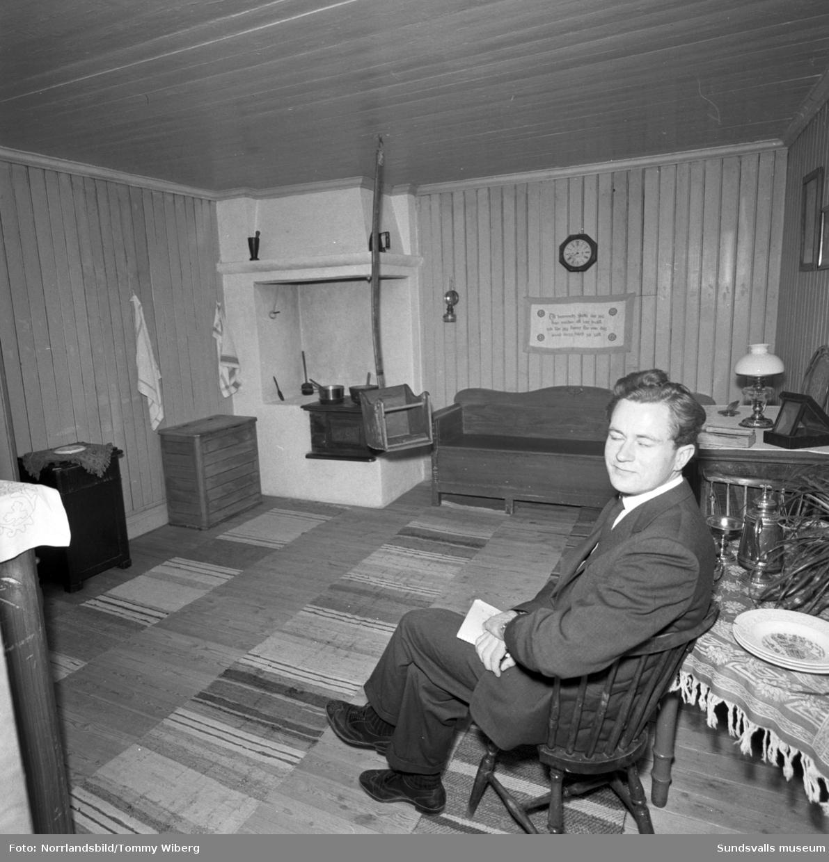 Irländsk författare på Sundsvalls museum.