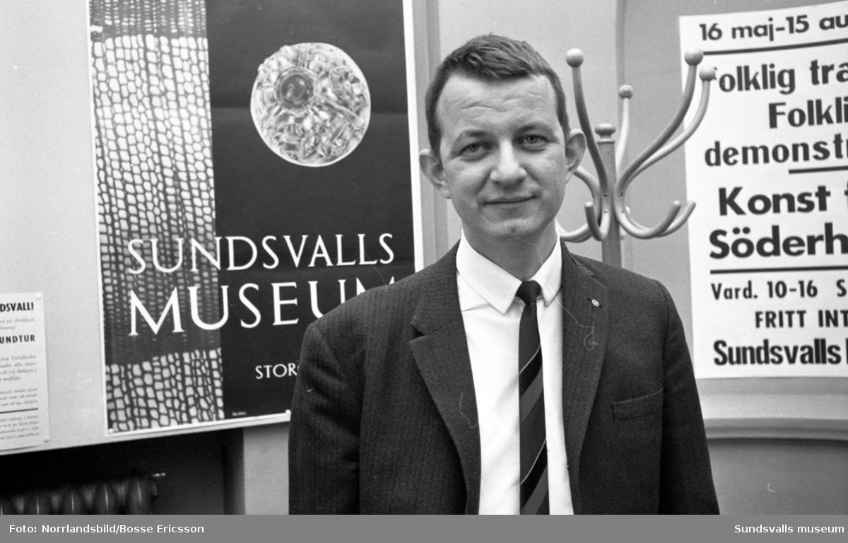 Intendent Olov  Isaksson på Sundsvalls museum.