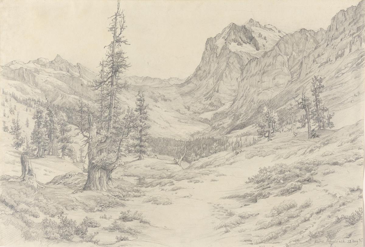 Alpelandskap, Kleine Scheidegg [Tegning]