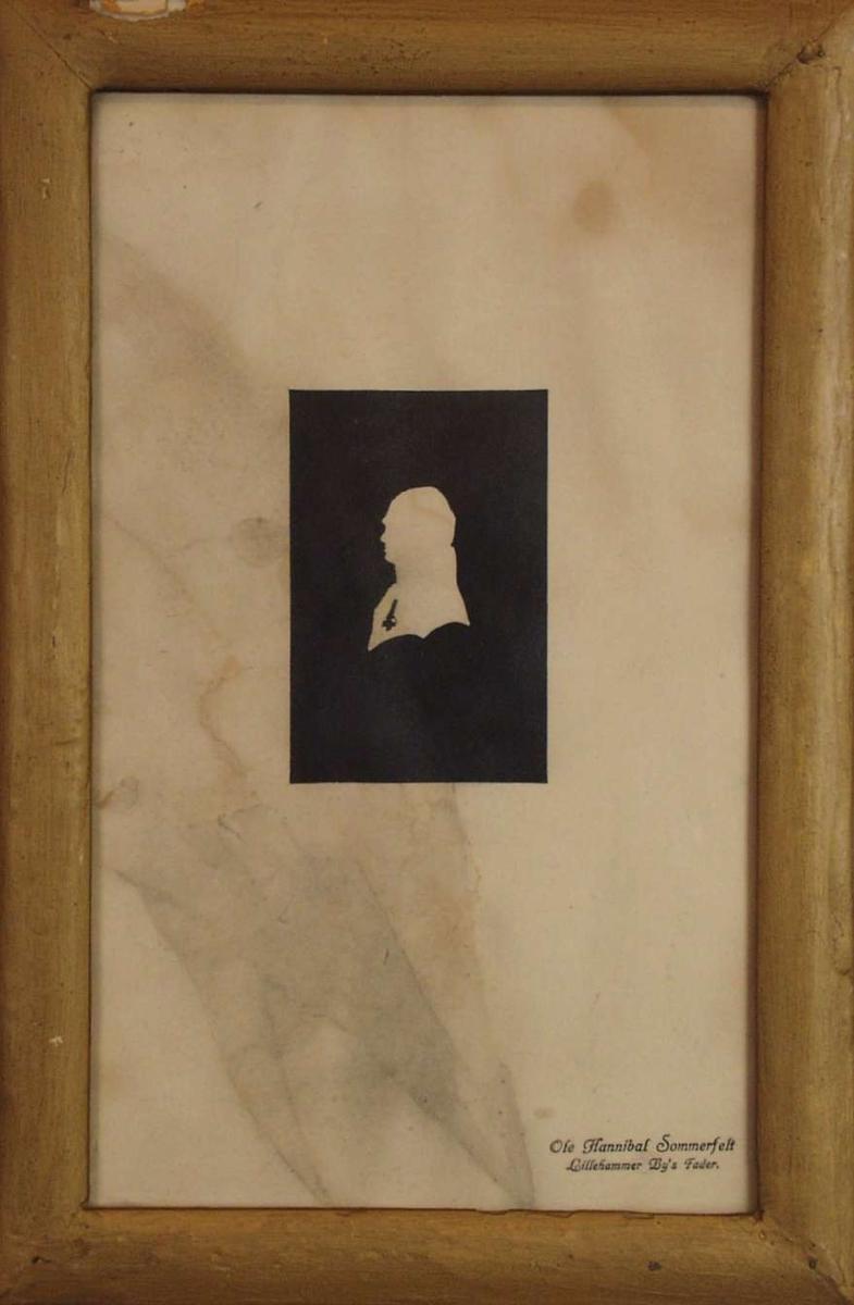 Silhuett av Ludvig Wiese.