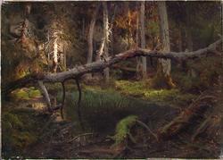 Skoginteriør [Maleri]