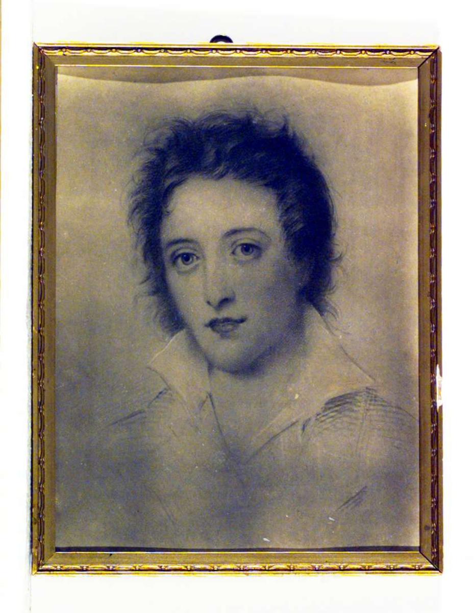 Portrett av dikteren Percy Bysshe Shelley (1792 - 1822).