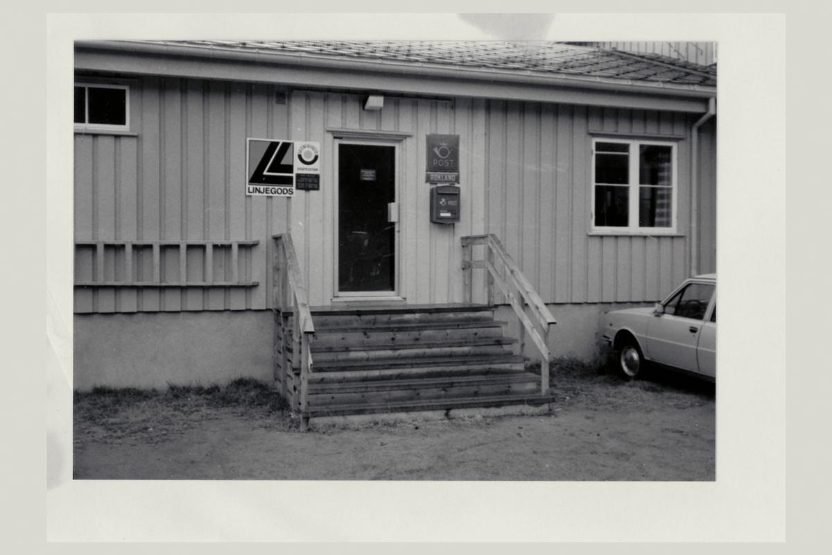 eksteriør, postkontor, 8255 Røkland, postkasse, postskilt