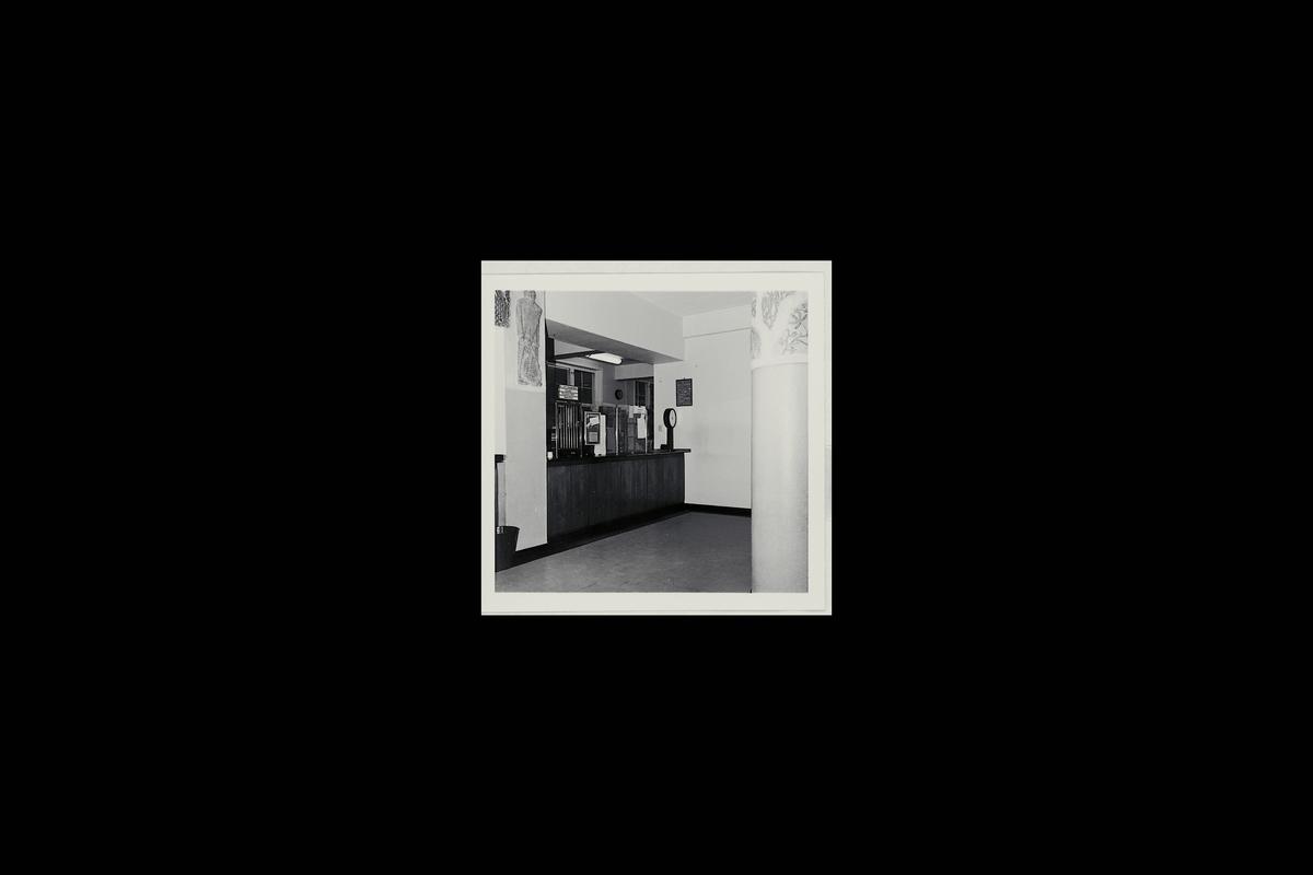 interiør, postkontor, 9600 Hammerfest, publikumshall, vekt