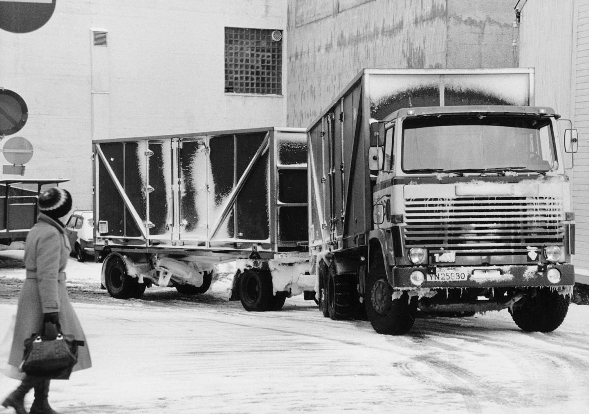transport, bil, Tromsø, lastebil med henger