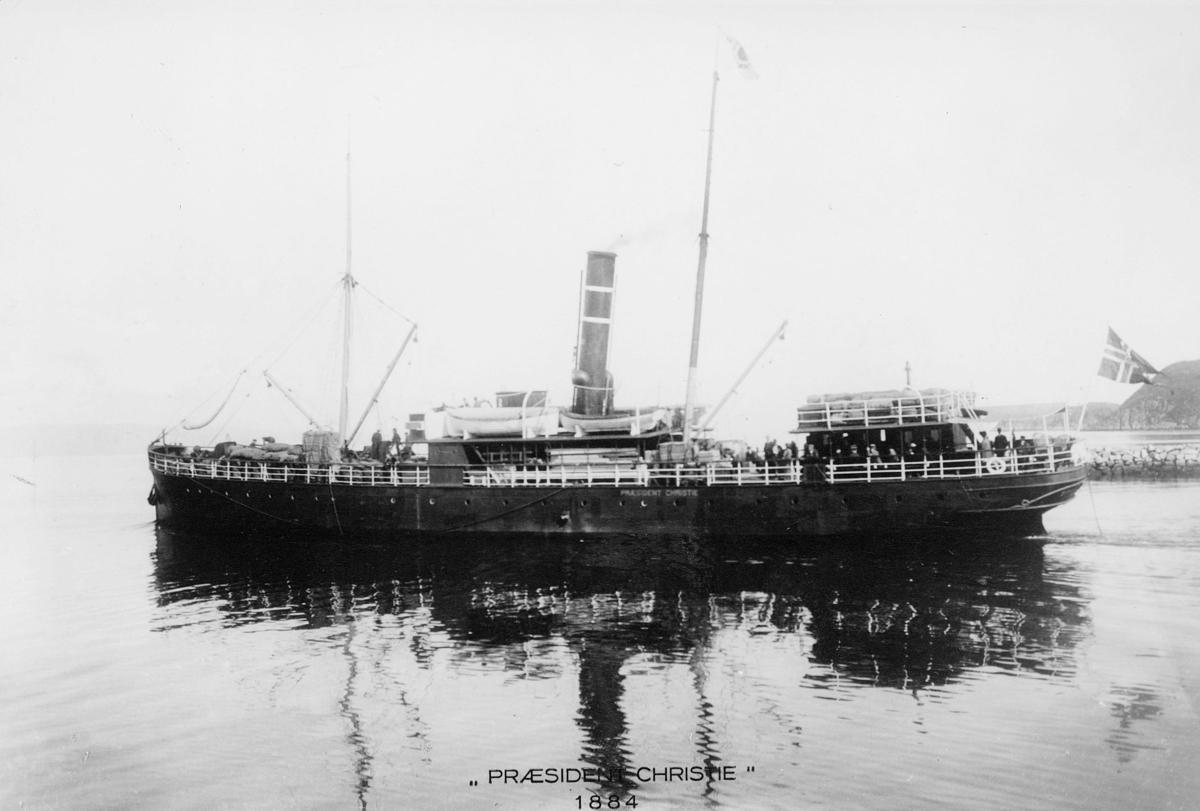 transport båt, eksteriør, D/S Præsident Christie