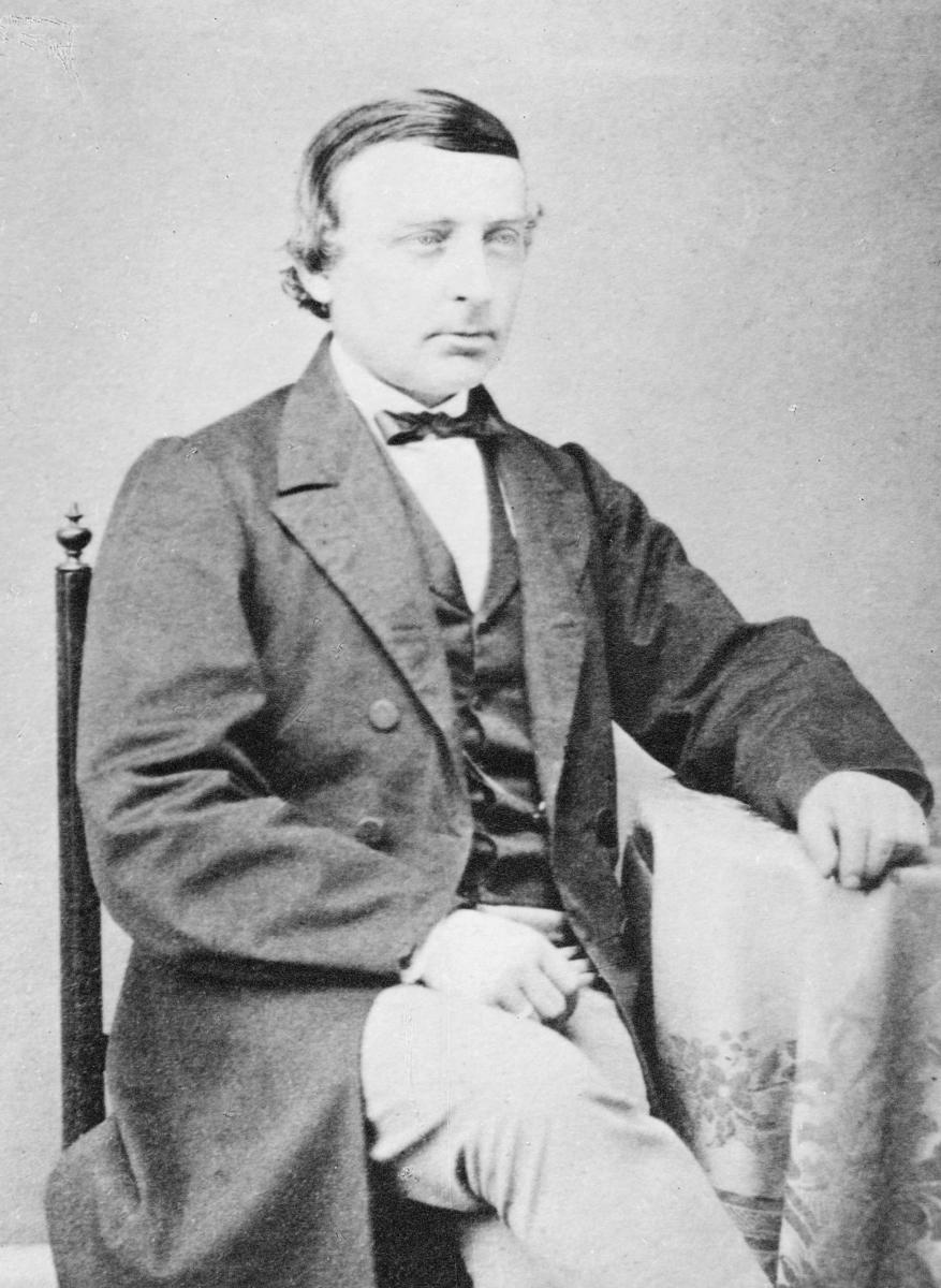 portrett, postmester, Herman Haffner